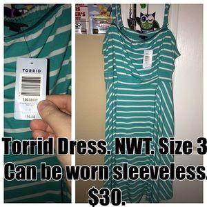 Torrid size 3 stripped dress